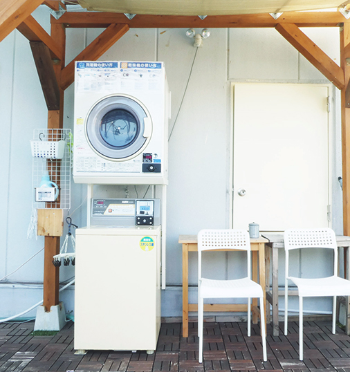 屋上(洗濯機&喫煙スペース)Rooftop Laundry machine and Smoking area